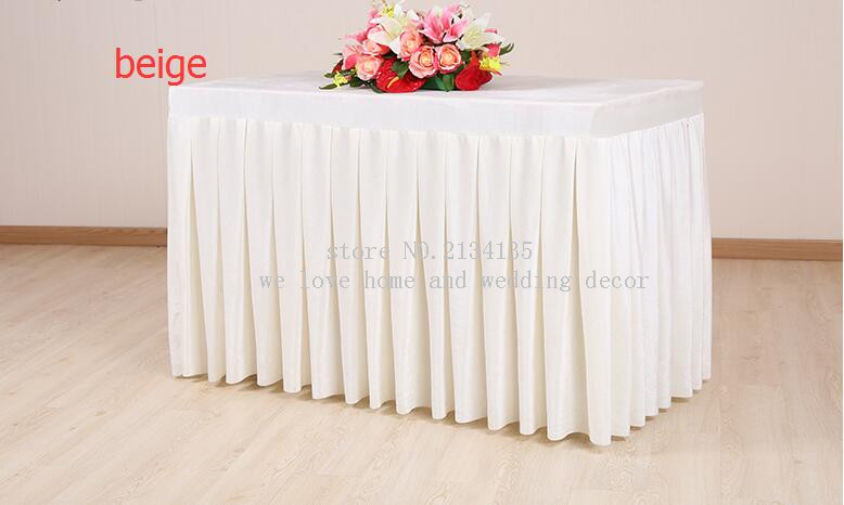 how to make buffet table skirting