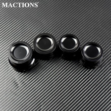 Motorcycle Black Front/Rear Axle Nut Covers Cap For Harley Sportster XL 1200 883 Touring Electra Glide Road King Softail Dyna motorcycle 8mm rear view mirrors for harley sportster xl 1200 883 low rider sport glide