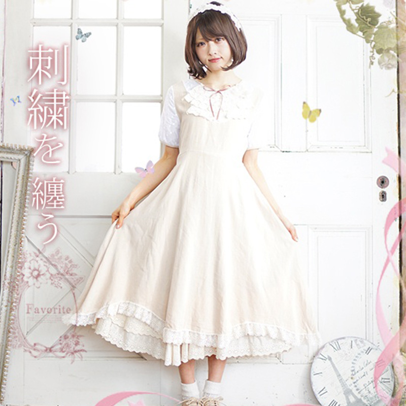 Summer Mori Girl Lace Multilayer Ruffle Dress Women Sweet Cotton Short Sleeve O Neck Female Empire