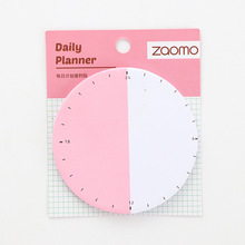Clock plan sheet sticky notes Sticky note paper alarm clock gradient note stick N times post Note sticker pitaya sticky note