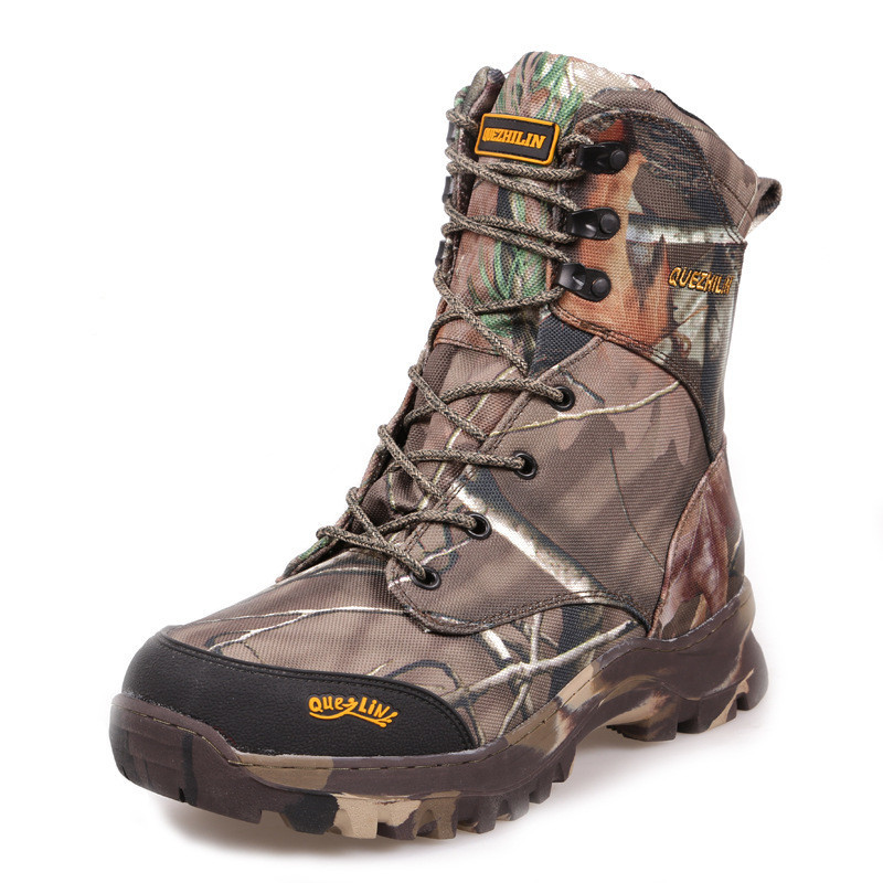 -20C Inverno Grosso de Lã Quente Ao Ar Livre À Prova D' Água Botas de Neve Deserto Selva Camuflagem Biônico Caça Caminhadas Sapatos Táticos