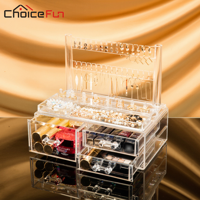 CHOICE FUN High Quality Acrylic Jewelry Organizer Clear Plastic