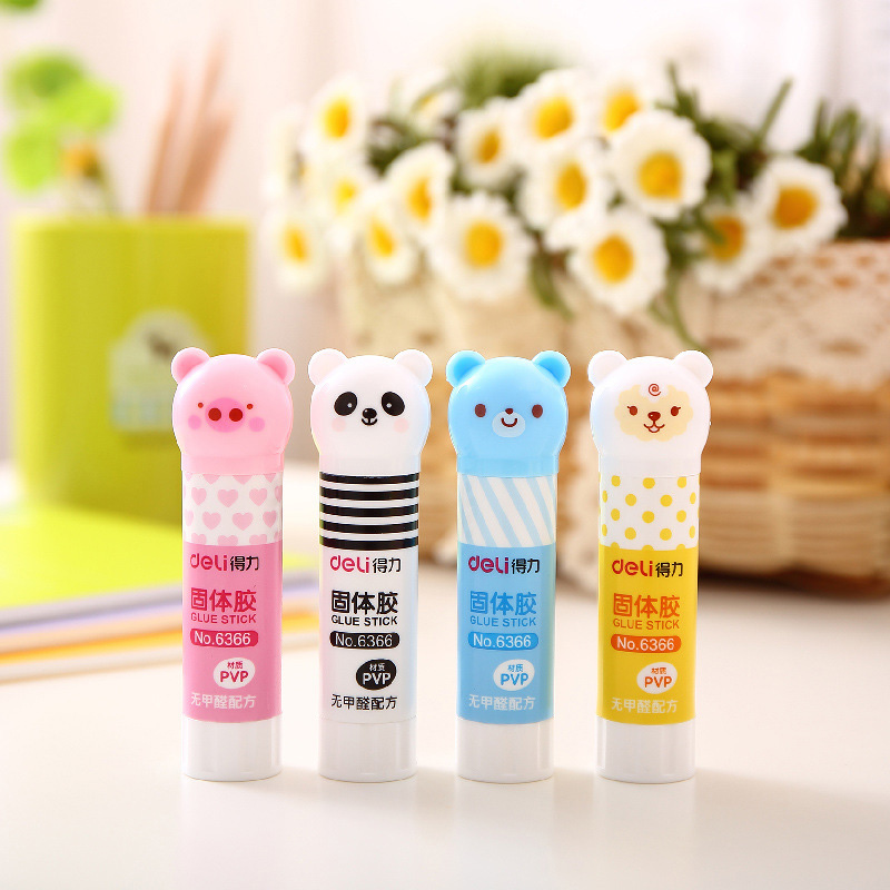 Cute Kawaii Cartoon Bear Panda Plastic Solid Glue For Kids Gift Korean Stationery Student