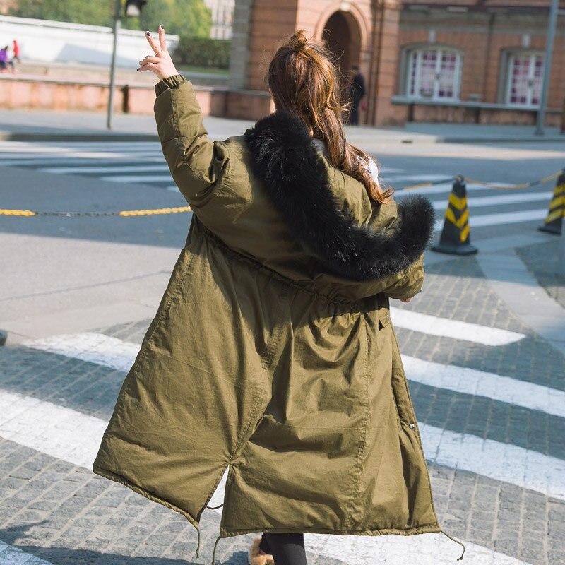 Parkas 1 De Parka Femmes Vestes Manteaux À Down Long Col 2017 D'hiver Fourrure Veste H436 Warmer Casual Mi Capuche 2 Nouvelle qX1nwH6