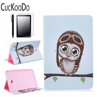 CucKooDo Slim PU Leather with Credit Card &ID Card Slot Protective Case for Samsung Galaxy Tab A 10.1 With S Pen SM-P585/SM-P580