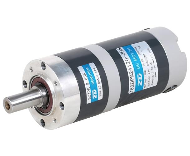 120 Вт щеточный мотор-редуктор прецизионный планетарный редуктор головки DC ЩЕТОЧНЫЕ планетарные редукторы Z82DPN24120-30S BLD/BLDP, DC мотор-редуктор