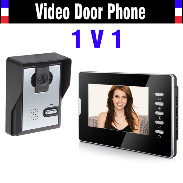 7 Inch Monitor Video Door Phone Intercom System Video Doorbell Kits Night Vision Camera for villa home Video Call and Intercom diysecur 7inch video door phone doorbell video intercom metal shell camera led night vision 1 monitor black for home office