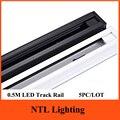 5 pc/lote nova 0.5 M LED faixa light Rail para rastreamento de integração lâmpada luminária de iluminação comercial freeship