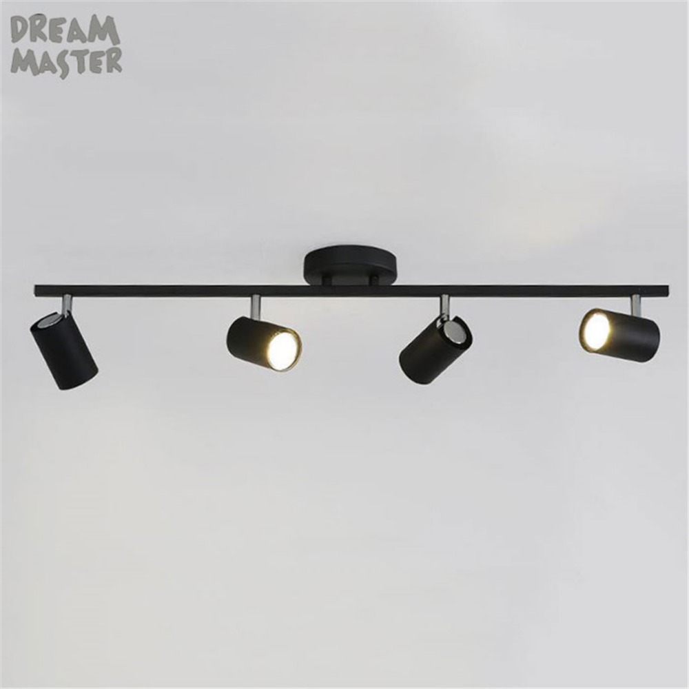 Us 27 07 5 Off Gu10 Led Track Light Adjule Lighting Kit Modern Black White Rail Spotlights 1 2 3 4 6 Lamp In