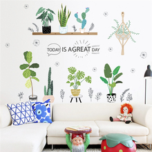 купить creative garden green grass plant wall stickers for living room bedroom home decoration pvc wall decals posters diy mural art дешево