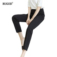 RUGOD High Waist Harem Pants Summer Style Casual Pants For Women Trouser Slim Suit Fabrics Wear