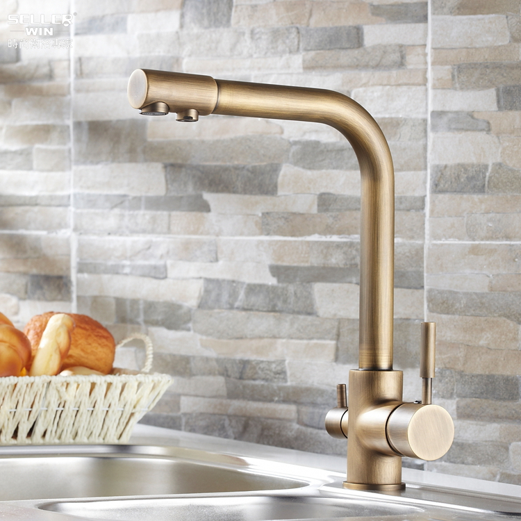 2014 contemporary dual handle none new arrival kitchen faucet torneira cozinha faucets antique copper hot and