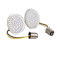 Motorcycle 2x White Red 1157 2 LED Turn Signal Light Inserts For Harley Dyna Softail Springer Night Train Touring Chopper