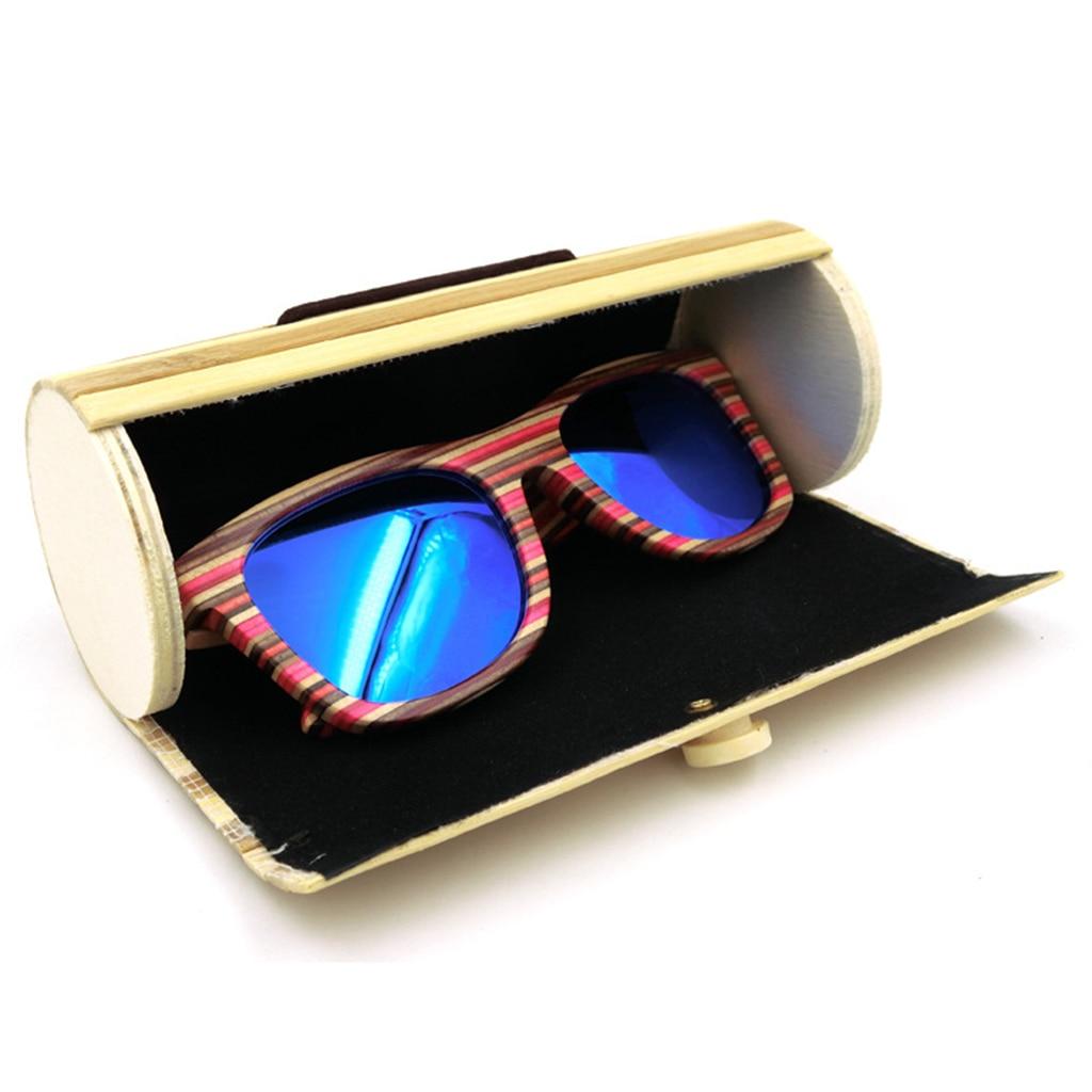 Durable Retro Handmade Bamboo Glasses Case Sunglasses Box Hard Storage Portable Protector