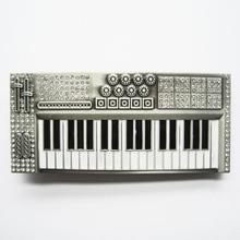 Qualität Schnalle musikinstrument antike tastatur + clear diamond musik Westliche gürtelschnalle