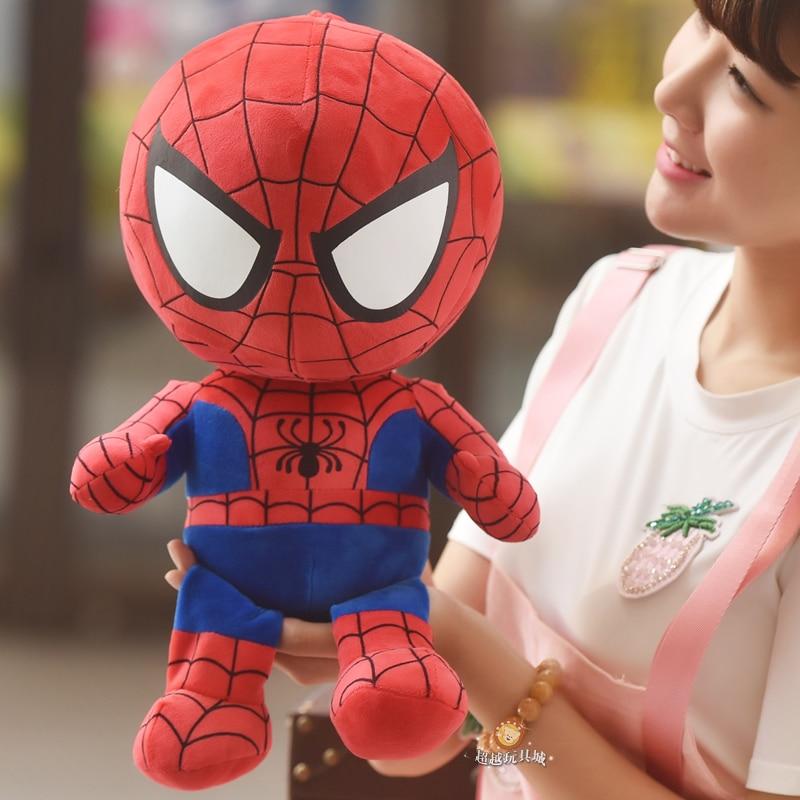 1pc 42cm Captain America Batman Iron Man spiderman superman hero plush doll cool boy birthday gift