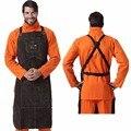 Avental de soldagem couro premium soldador proteger roupas carpinteiro ferreiro jardim couro vestuário avental trabalho