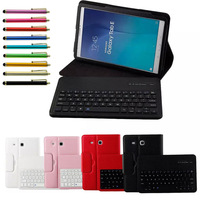 For Samsung GALAXY Tab E 9.6 T560 T561 Tablet Detachable ABS Bluetooth Keyboard Portfolio Leather Ultra Slim Stand Case Cover