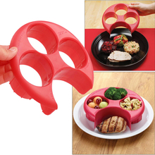 1Pc Hot Sale Meal Measure Cooking Tools Kitchen Food Portion Control Plate Lose Weight Bakeware Accessories