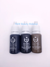 3 Bottles 15ml/Bottle Tattoo Ink For Eyebrow Makeup Pigment Permanent Makeup Ink 23 Colors Can Be Choosed