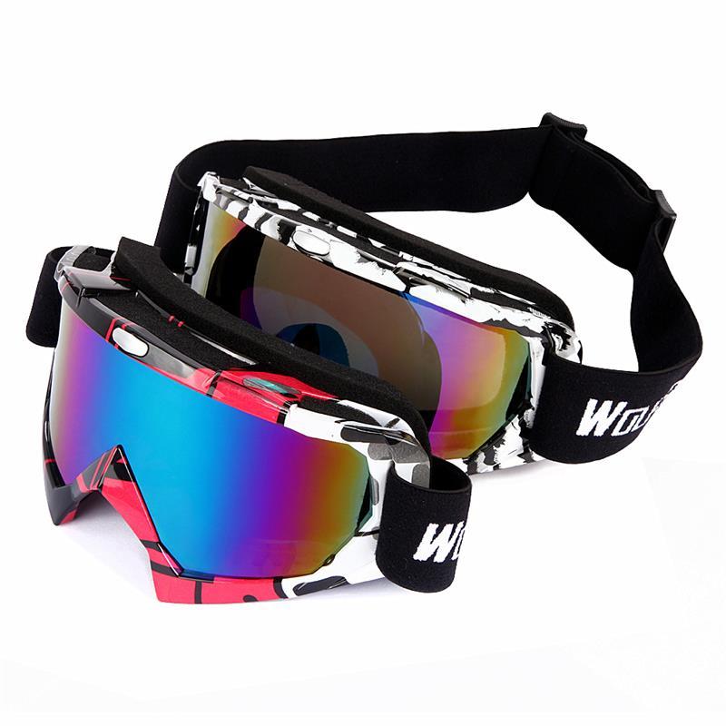 WOLFBIKE UV400 Protection Ski Goggles Outdoor Sports bike Snowboarding Skate Goggles Men Women Snow Skiing Sun
