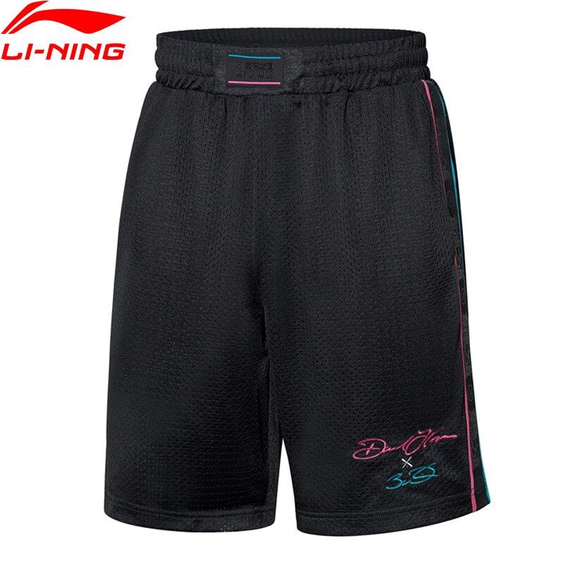 Li-ning Men Wade Series ostatnie spodenki do tańca luźna, poliestrowa koszulka w kolorze LiNing spodenki sportowe spodnie AKSP673 MKD1643