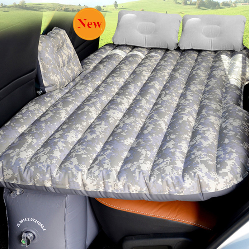SUV Inflatable Mattress Travel Camping Car Back Seat Sleeping Rest Mattress with Air Pump Car Sex Bed Car Accessories durable thicken pvc car travel inflatable bed automotive air mattress camping mat with air pump