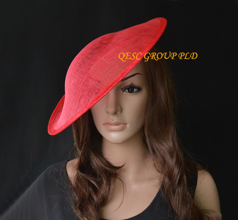Новая красная sinamay плоская основа 1,3 см атласные головные ободки повязки для свадьбы