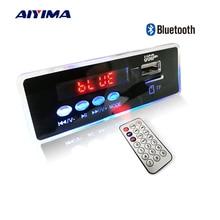 AIYIMA 12V Blue LED MP3 Audio Decoder Board Lossless FLAC APE 4.2 Bluetooth Decoder With Remote Control TF Card FM Radio