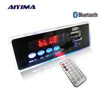 AIYIMA 12V mavi LED MP3 ses şifre çözücü kurulu kayıpsız FLAC APE 4.2 Bluetooth dekoder uzaktan kumanda ile TF kart FM radyo