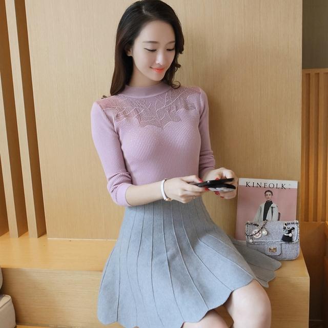 6637-nueva Calcomanía stretch pecho camisa de tejer suéter de las mujeres 40