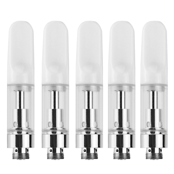 5pcs/pack 1.0ml CBD Cartridge Clearomizer Oil Tank Ceramic Cell Coil For 510 Thread Electronic Cigarette Vape Vaporizer Pen Mod image