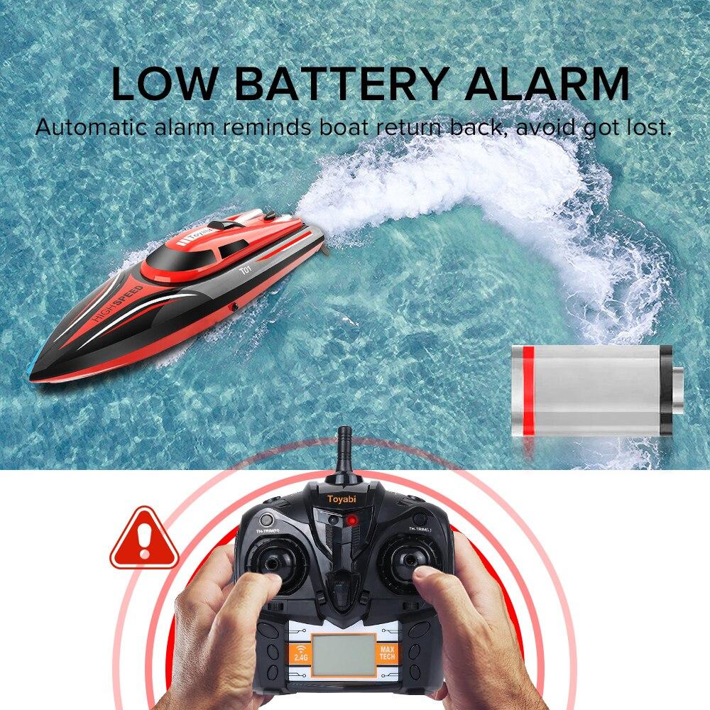 RC Barco de H101 2,4 GHz de alta velocidad de 30 km/h 180 grados flip con Servo Control remoto barco de pesca juguetes para niños regalos