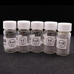 1 Бутылки шары для реболлинга (0,25 0,3 0,35 0,4 0,45 0,5 0,55 0,6 0,65 0,76) припоя BGA этилированного Для ремонта BGA паяльная слишком