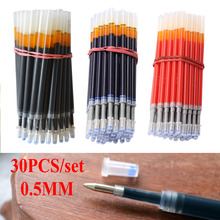 DELVTCH 0.5MM 30PCS/set Gel Ink Pen Refills Signature Pen Refill Office School Student Writing Stationery Supplies Gift 30pcs lot blue red black ink 0 5mm gel ballpoint pen refills set korean stationery creative gift school supplies pen refills
