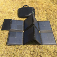 Powerful 18V 100W Folded Solar Charger Pack Outdoor Emergency Solar Power Supply for 12V Lead Batteries and Laptop