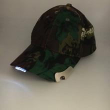 Топ продаж флуоресцентный охотничья шляпа 5 светодиодный Кепки s свет открытый Роман Рыбалка шляпа DHL