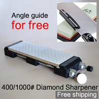 diamond sharpener 400 1000# knife sharpening tools iron steel knife sharpener Professional Kitchen Knife Sharpening angel guide