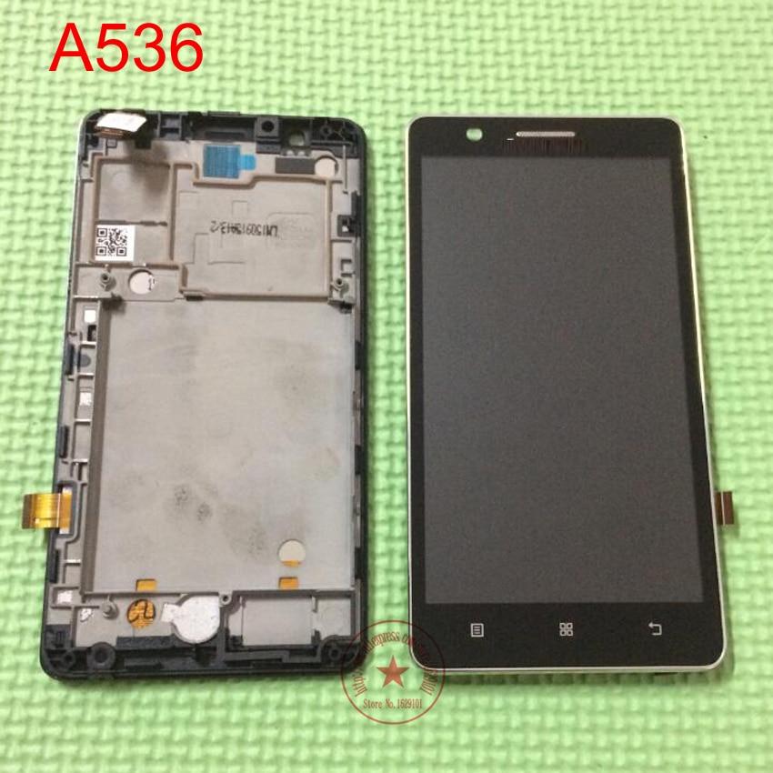 imágenes para Negro blanco pantalla lcd full pantalla táctil digitalizador asamblea + frame para lenovo a536 reparación de piezas de reemplazo + no. de seguimiento.