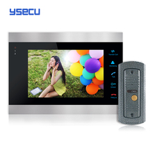 Купить монитор получить дверной звонок бесплатная YSECU 7 дюймов цветной жк-видео-телефон двери домофон открывание двери разблокировать дверной звонок камеры бесплатная