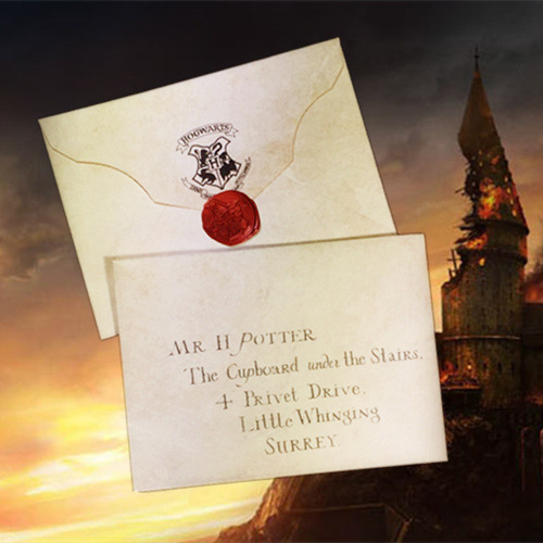 1 Set Wizard Hogwart Ticket And Acceptance Letter School Potter Letter Of Adimission Gifts Party Students Kids Fans