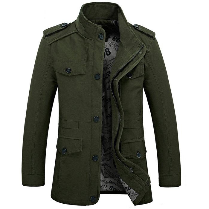 Military Style Jackets For Men Army Green Military Jacket chaqueta ...