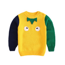 Kids Sweaters Boys Pattern Sweaters Children Pullover 2019 Spring Autumn Baby Boy Knitted Children Boy Sweater Winter Clothes