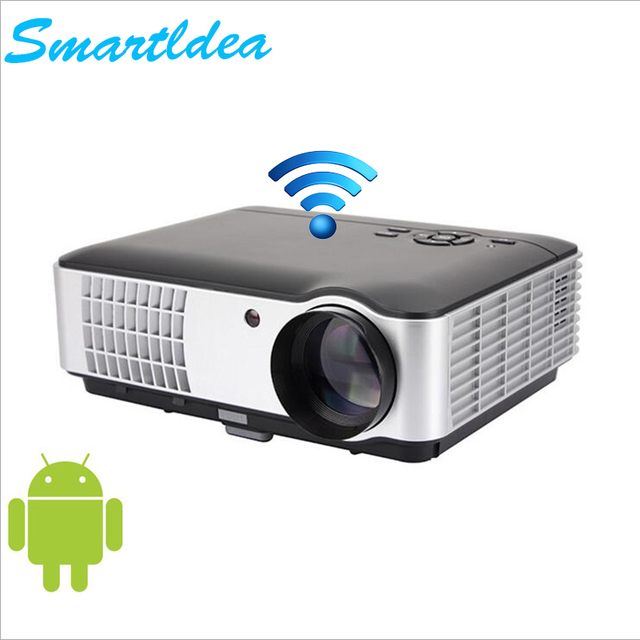 smartidea led 5000lumens hd projector quad core android 4 4 wifi