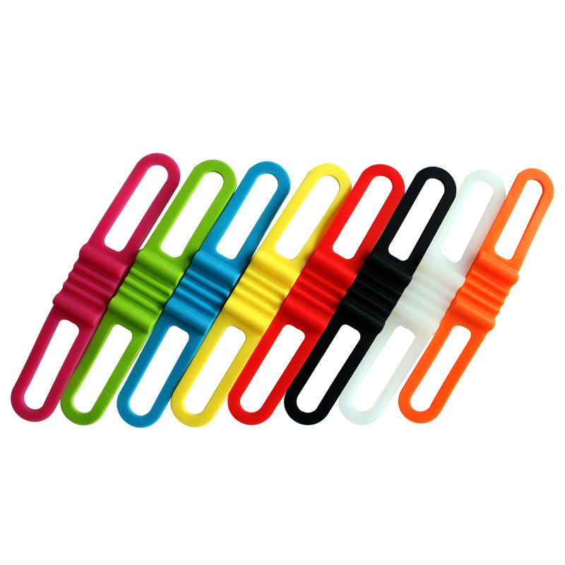 4PCS /PACK Silicone Strap Bike Front Light Holder Bicycle Handlebar Fixing Tie  Bycicle Torch Flashlight Bandages Speaker Mount