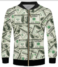 3 Styles Real American Size Salt-n-Pepa-8-ball 3D Sublimation Print Zipper Up Jacket Pilot Bomber Jacket Coat street Jackets metallic color zipper up bomber jacket