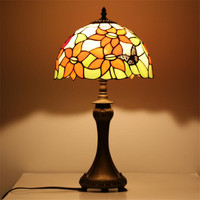 L64 Bright evenly colors glass butterfly LED lighting retro eye protect lamp bedroom bedside lamp study table lamp,drop shipping