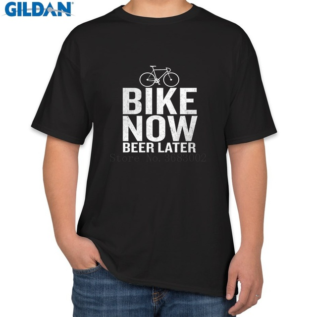b03482c7 Printed The New Mens Tshirt Short Sleeve Now Beer Later Funny Quote Bicycle  T-Shirt For Mens Homme T-Shirt Unique