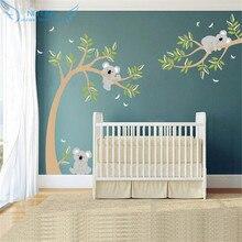 ملصق جداري لشجرة كوالا والفروع ملصق جداري لشجرة كوالا مع اليعسوب كوالا الدب شارات جدارية لحضانة الأطفال والأطفال وغرفة الأطفال