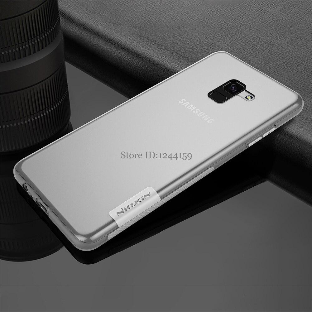 sfor Samsung Galaxy A8 Plus 2018 cover Nillkin nature Transparent Clear Soft silicon TPU ...